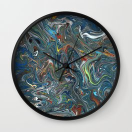 Abstract Oil Painting 14 Wall Clock
