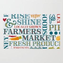 Farm Fresh Market Signage Rug