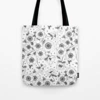 oana befort Tote Bags featuring Anemone by Oana Befort