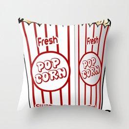 Cartoon Sweet Popcorn Throw Pillow