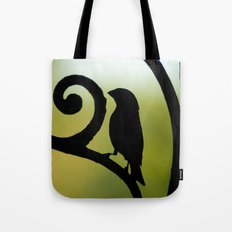 Bird on the Ironwork Tote Bag