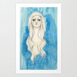 Long Hair Art Print