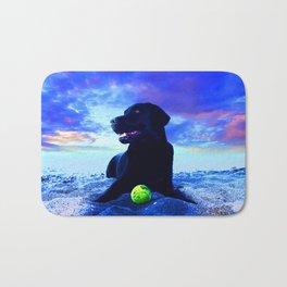Ziggy Black Labrador Bath Mat