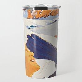 Vintage Dolomites Mountains Italy Travel Poster Travel Mug