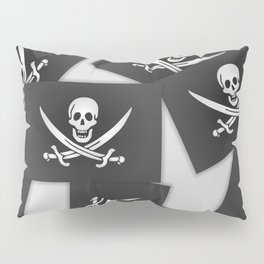 The Jolly Roger of Calico Jack Pillow Sham