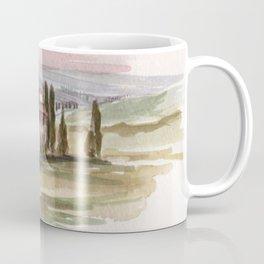 Tuscany, Sunset 2013 watercolor Coffee Mug
