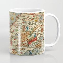 Medieval Map Scandinavia 1539 Coffee Mug