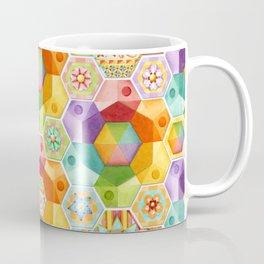 Circus Rainbow Hexagons Coffee Mug