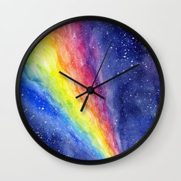 A Rainbow in Space Wall Clock