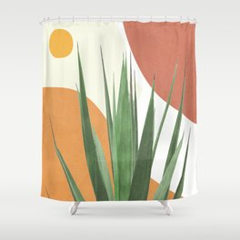 Abstract Agave Plant Shower Curtain