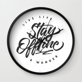 Stay Offline Wall Clock