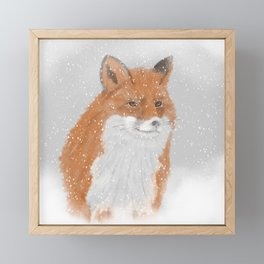 Winterfox Framed Mini Art Print
