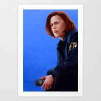 dana scully Art Prints featuring Dana Scully B.S, M.D by Ofools