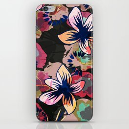 floral summer night iPhone Skin