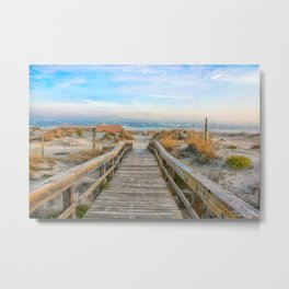 I Can Hear The Waves Calling My Name Metal Print
