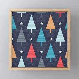 Oh Rainbow Christmas Tree Framed Mini Art Print