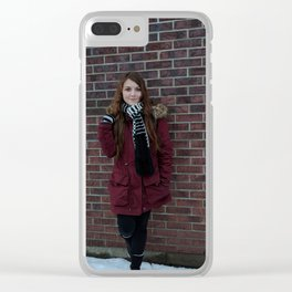 Winter Temps Clear iPhone Case