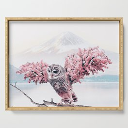 Sakura Owl Serving Tray