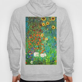 Gustav Klimt Garden with Sunflowers Hoody