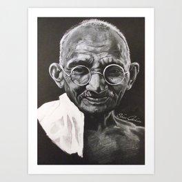 Mohandas Gandhi Art Print