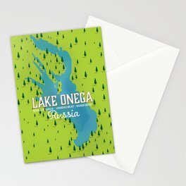 Lake Onega, russia Stationery Cards
