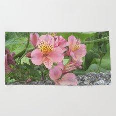 small flowers of tenerife Beach Towel