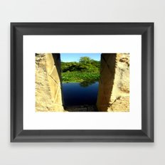 Between the Pillars Framed Art Print