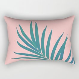 Tropical Palm Leaf #3 #botanical #decor #art #society6 Rectangular Pillow
