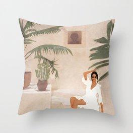 Graceful Resting II Throw Pillow