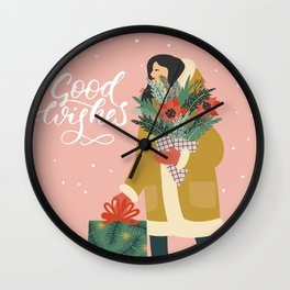 Good Wishes Wall Clock
