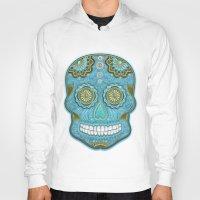 sugar skull Hoodies featuring sugar skull by Ancello