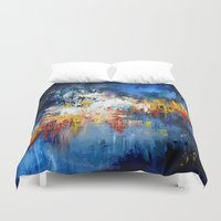 oil Duvet Covers featuring Oil Gravity by Maioriz Home