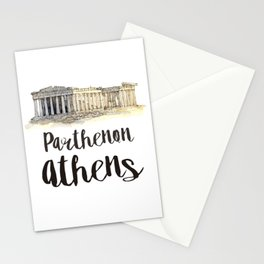 Parthenon watercolor Stationery Cards