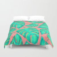 palms Duvet Covers featuring Palms by Anika Kirk