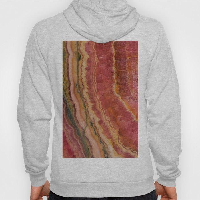 Salmon Striped Quartz Hoody