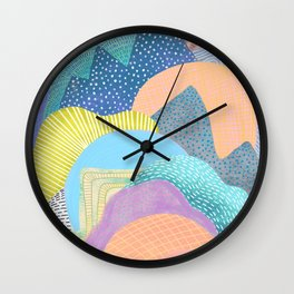 Modern Landscapes and Patterns Wall Clock