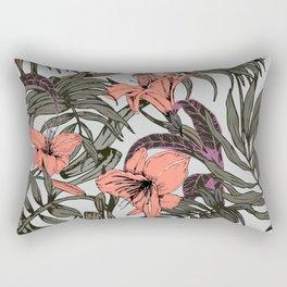 Delicate pink botanical jungle Rectangular Pillow