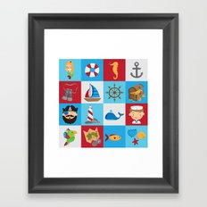 Ahoy There! Framed Art Print