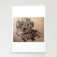 poodle Stationery Cards featuring poodle by The Traveling Catburys