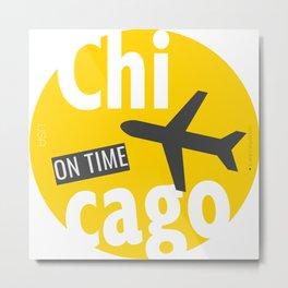 CHICAGO YELLOW BADGE Metal Print
