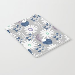 Blue floral strawberries Notebook