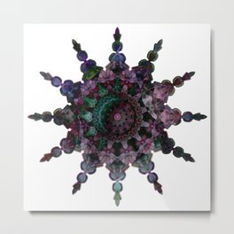Purple Seaflake Metal Print