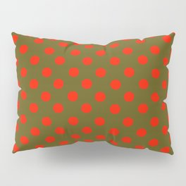 Polka Dot Madness, Brown and Red Pillow Sham