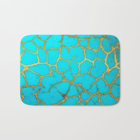 Turquoise Stone Bath Mat