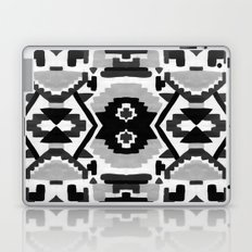 Geometric Aztec - black and white Laptop & iPad Skin