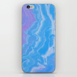 Lavender & Blue Watercolor iPhone Skin