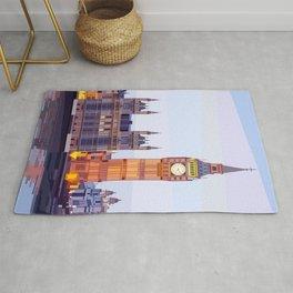 Geometric Big Ben, London, UK Rug