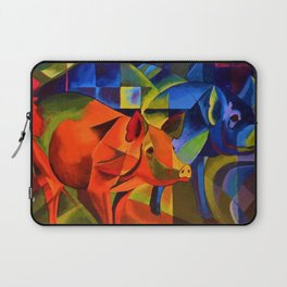 The Pigs by Franz Marc Laptop Sleeve