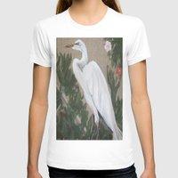 crane T-shirts featuring Crane by Lark Nouveau Studio