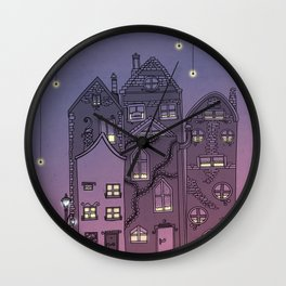Midnight Teaparty Wall Clock